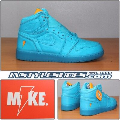 1c392b2e78ad Nike Air Jordan 1 High Retro GS Gatorade Blue Lagoon AJ6000-455 Y Grade  School