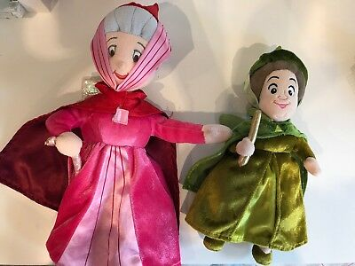 Disney Store Sleeping Beauty Fairies Godmother Plush Soft Toy (One Is Stamped)