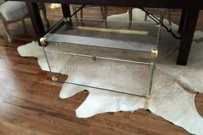 Lucite Acrylic Clear Trunk Large Custom Hand Made Trunk