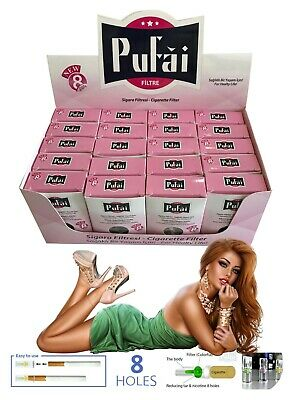 Pufai Disposable Cigarette Filters Nic Out Holders Compatible 8mm 600 Pcs 20 Box