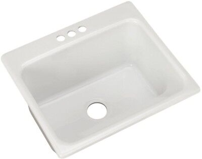 Kensington Drop In 25 3 Hole Single Bowl Utility Sink Undermount