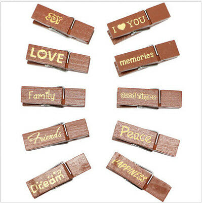 Fujifilm Sentiment Wood Peg Clips with Magnets for Instax Film Photos RETAIL $10