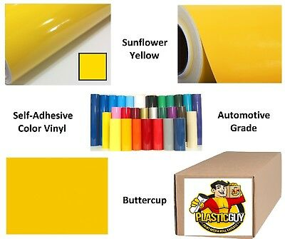 "Sunflower Yellow Self-Adhesive Sign Vinyl 15"" x 150 ft or 50 yd (1 Roll)"
