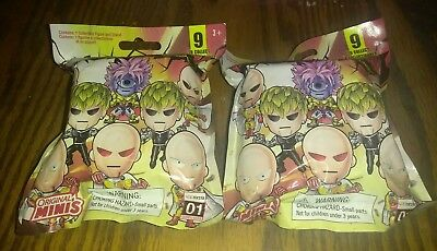 ONE PUNCH MAN Mini Figure BLIND BAG Sealed Set Lot of 2 With Random Toy Inside