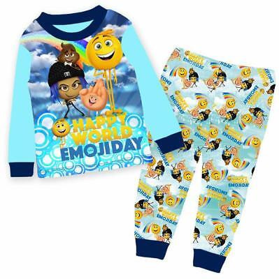 EMOJI Unisex Boys Girls Pyjamas  Kids Pyjama Set PJS Sleepwear Nightwear