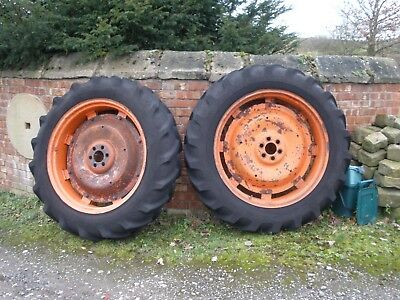 Fordson Major rear wheels and tyres, 12x36.