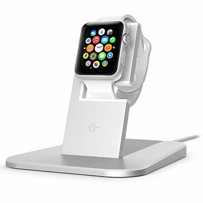 Twelve South HiRise stand for Apple Watch silver | Metal charging dock