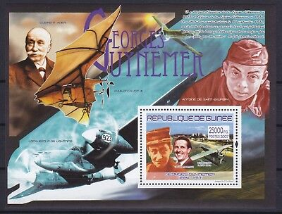 Guinea Block 1457 (5257) **, Georges Guynemer - Flugzeuge / Airplanes