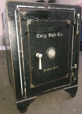 Antique Safe by The Cary Safe Co. Buffalo NY In Original Condition As Found