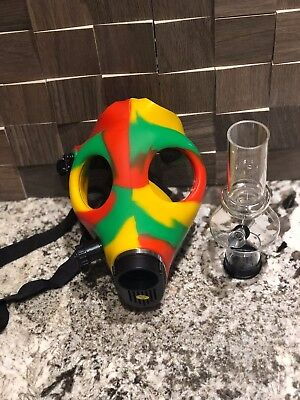 Gas Mask Bong Hookah Smoking (Rasta mask) (Random color Water Pipe)