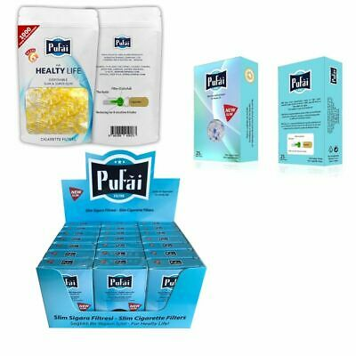Pufai Slim Cigarette Filters Tar Block Holder 1525 Pieces