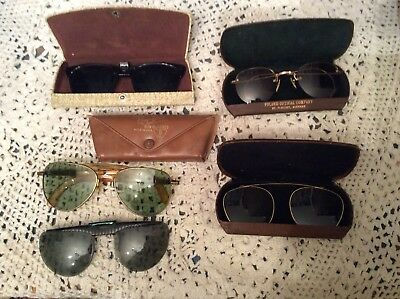 Lot Of 5 Vintage Antique Sunglasses/Glasses Covers-Ray Ban Case