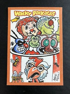 2012 ALL NEW SERIES 9 ANS9 Topps Wacky Packages COLOR SKETCH CARD