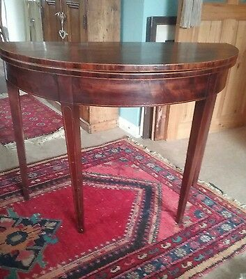 Antique Mahogany demi lune table
