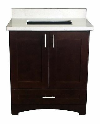 Espresso Shaker Single Sink Bathroom Vanity Base Cabinet 36 Wide X