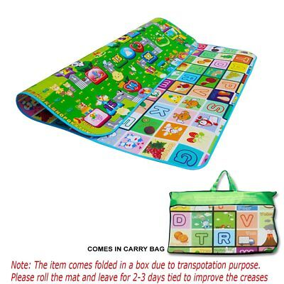 Kids Crawling Educational 2 Side Play Mat Game Soft Foam Picnic Carpet 200X180cm