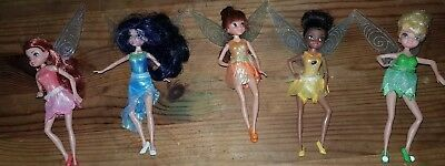 Rare set of 5 Disney Fairies dolls with light up wings, Tinkerbell
