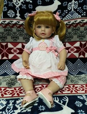 "Adora Doll Realistic Toddler ""Happy Birthday Baby"" 20"" Beauty Girl Smile NWOB"