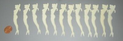 12 Vintage 1950's Nude MERMAID WOMAN COCKTAIL Martini STIRS Snack PICKS Pinup