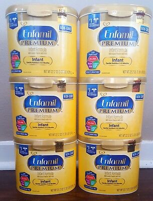 6 Tubs Enfamil Premium Infant Formula 22.2Oz Can With Iron Lot Brand New & Fresh