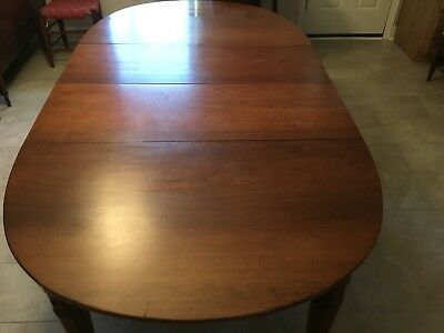 Antique Walnut Expandable Banquet Dining Table circa 1820's