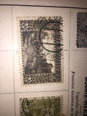 2 Old Stamps Bosnia Herzegovina Used
