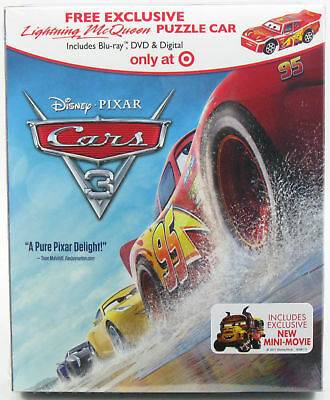 Cars 3 (Blu-Ray/dvd 2017)~ Brand New~ Target Exclusive~ Free Puzzle Car~ Digital