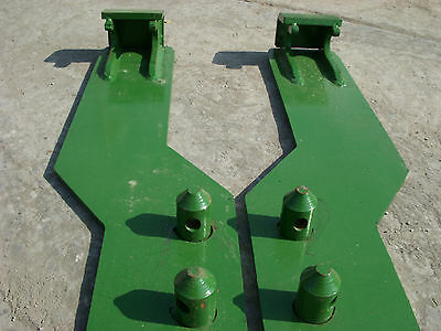 John Deere Tractor Loader Quick Tach Weld On Mounting Brackets - Free Ship!!