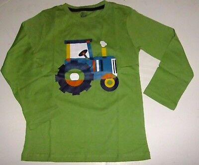 Boy's Size 2T Long Sleeve Shirt Tractor Farm Green NWT Country