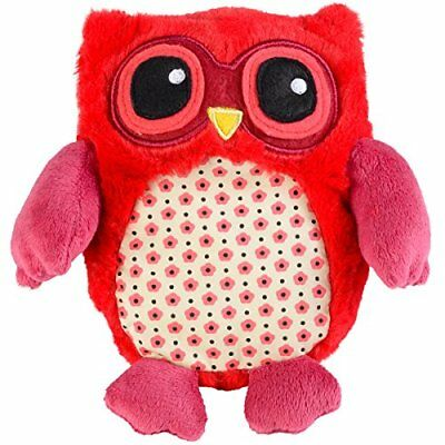 GREENLIFE HEAT PLUSH ANIMAL PILLOW ROSSO MINI OWL Nuovo Salute e bellezza rot