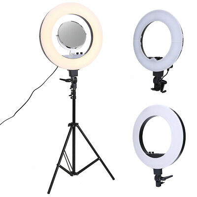 """Camera 18"""" 12"""" Inch 5500K Macro Ring Fluorescent Flash Light With Mount Bag"""