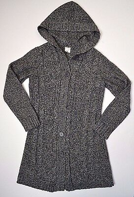 Motherhood Maternity women's sweater size cable knit long sleeve gray hooded
