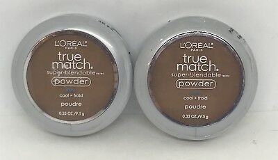 NEW SEALED Lot of 2 L'Oreal True Match Super Blendable Powder COCOA C8 Cool