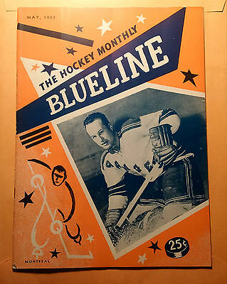 """hockey Blueline Magazine May 1955 King Clancy Maple Leafs, Ted Lindsay Rare """