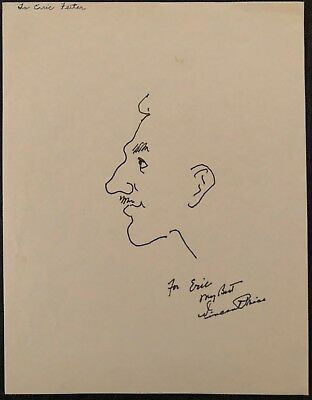VINCENT PRICE SELF PORTRAIT Hand Signed Autographed 8 X10 DRAWING W/COA