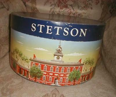 1940s STETSON Hat Box Colorful Graphics Sturdy Very Nice, Clean for your Fedora