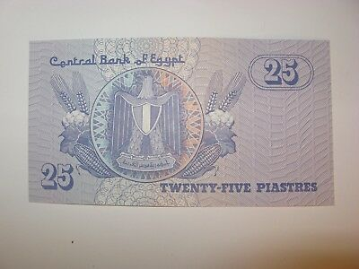 Crisp Uncirculated Central Bank Of Egypt 25 Piastres Bank Note
