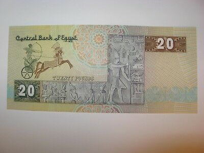 Central Bank Of Egypt 20 Pounds Bank Note Crisp Uncirculated