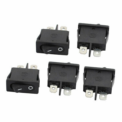 5Pcs AC250V 6A AC125V 10A 2 Terminals Locking On Off Snap in Boat Rocker Switch