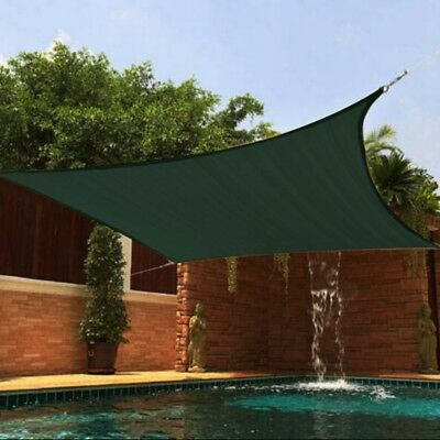 Square/Triangle UV Sun Shade Sail Outdoor Canopy Patio Lawn Pool Deck Yard Dock