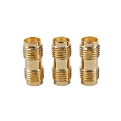 3x Gold RF Connector SMA Female to SMA Female For Two Way Radio SMA-F to SM O3L7