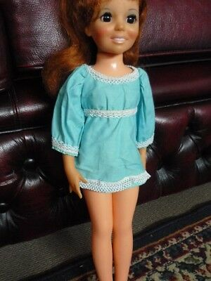 Crissy Doll. Light Blue with lace trim mini Skirt . 1970s Clothing