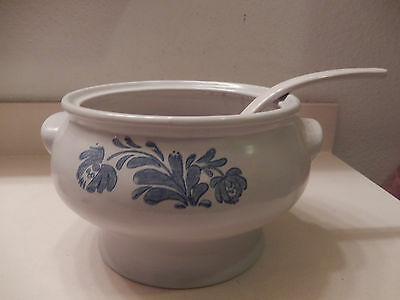 PFALTZGRAFF Yorktowne Soup Tureen with Ladle Blue Gray 160Y NO Lid