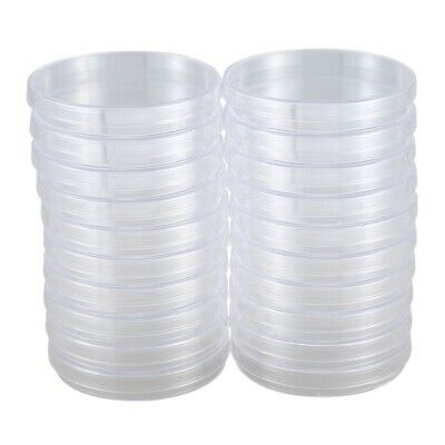 20 Pack Sterile Plastic Petri Dishes, 100mm Dia x 15mm Deep, with Lid I4O9 M6H9