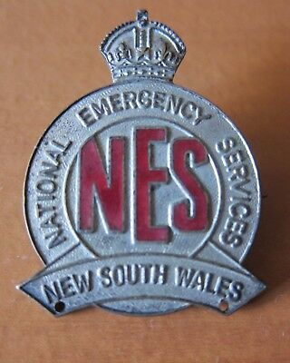 NES National Emergency Services NSW Badge VGC