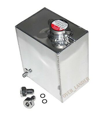 Full Aluminum Radiator Overflow Reservoir Water Tank Bottle Universal 2.5L New