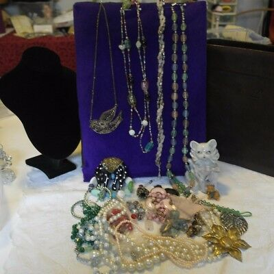 Bulk lot jewellery, vintage to newer to harvest for craft