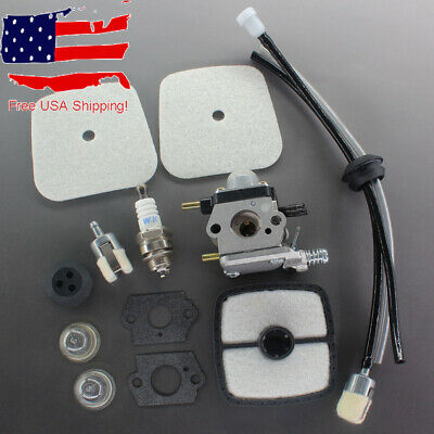 Carburetor & Fuel Line Kit For Mantis Tiller Cultivator 7222E SV-4B 1E Engines