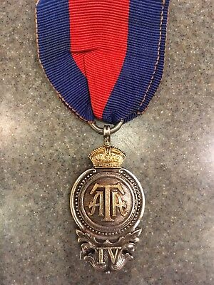 Army Temperance Association 4 year Medal. Silver