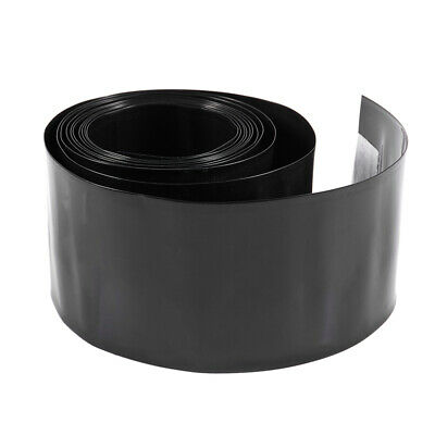 2Meter 56mm Width PVC Heat Shrink Wrap Tube Black for AAA Battery Pack CT L K6U5